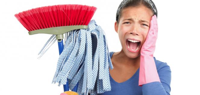 Limpieza en la residencia